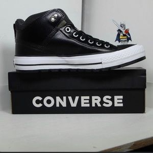 Converse/black leather thinsulate